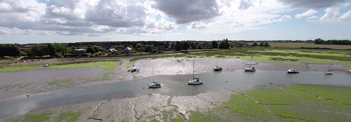 Bosham Harbour from above